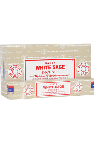 Satya White Sage Incense Sticks | Angel Clothing