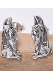 Seventh Sense Silver Moongazing Hare Stud Earrings | Angel Clothing