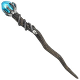 Silver Claw Wand with Blue Gem | Angel Clothing