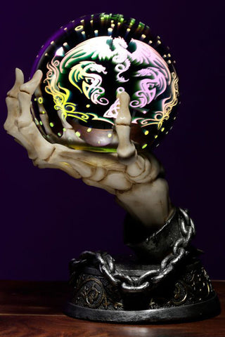 Skeleton Hand LED Metallic Orb | Angel Clothing