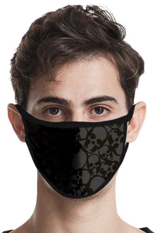 Black Skulls Face Mask | Angel Clothing