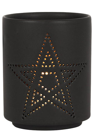 Pentagram Cut Out Tealight Holder | Angel Clothing