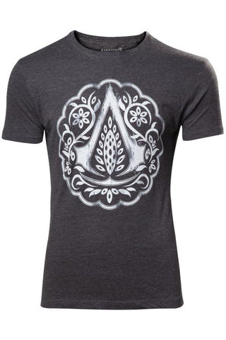Assassins Creed Iberian Logo Flower Crest T-shirt | Angel Clothing