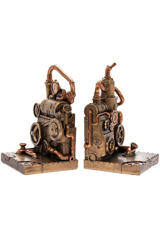 Steampunk Piston Power Bookends | Angel Clothing