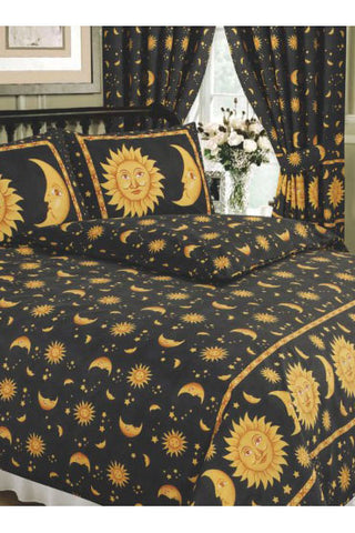 Sun and Moon Duvet Black | Angel Clothing