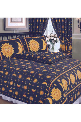 Sun and Moon Duvet Blue | Angel Clothing