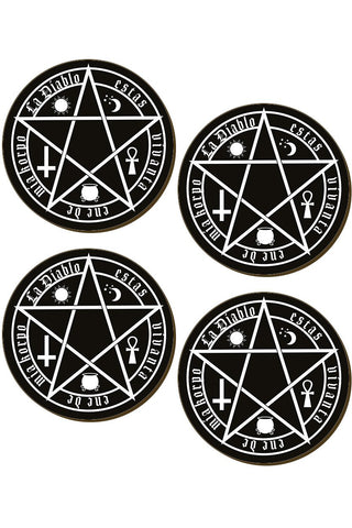 The Devil Is Living In My Flesh Coaster Set