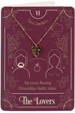 The Lovers Tarot Necklace on Greeting Card | Angel Clothing