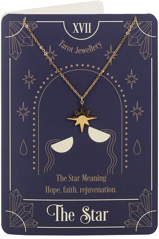 The Star Tarot Necklace on Greeting Card | Angel Clothing