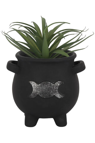 PRE ORDER Triple Moon Cauldron Terracotta Plant Pot | Angel Clothing