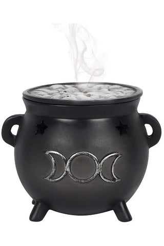 Triple Moon Cauldron Incense Cone Holder | Angel Clothing