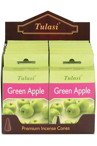 Tulasi Green Apple Incense Cones | Angel Clothing