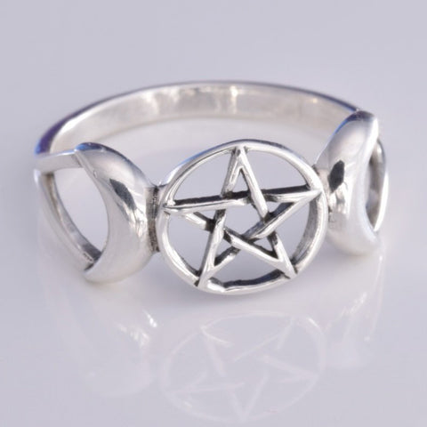 Seventh Sense Triple Moon Ring Silver | Angel Clothing