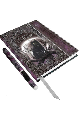 Embossed Witches Spell Book Journal with Pen | Angel Clothing