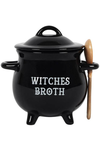 Witches Broth Cauldron Soup Both with Broom Spoon | Angel Clothing