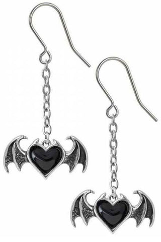 Alchemy Bat Blacksoul Earrings | Angel Clothing