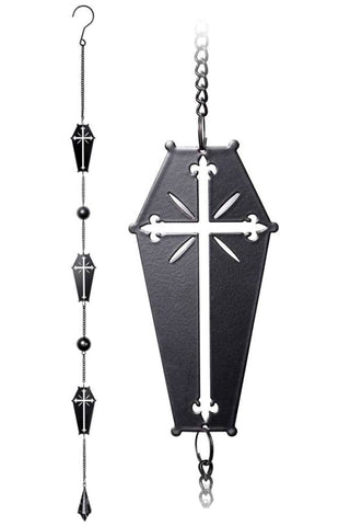 Alchemy Coffin Cross Wind Chime | Angel Clothing