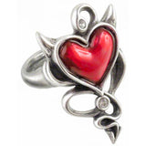 Alchemy Devil Heart Ring Gothic Heart Ring UL17 ULFR6 | Angel Clothing