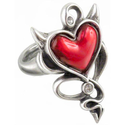 Alchemy Devil Heart Ring Gothic Heart Ring UL17 ULFR6 - Angel Clothing