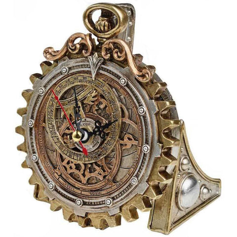 Alchemy Gothic Anguistralobe Steampunk Clock V50 - Angel Clothing