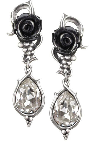 Alchemy Gothic Bacchanal Rose Earrings E347 | Angel Clothing