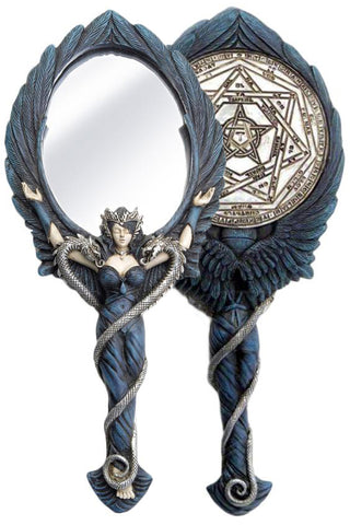 Alchemy Gothic Black Angel Hand Mirror | Angel Clothing