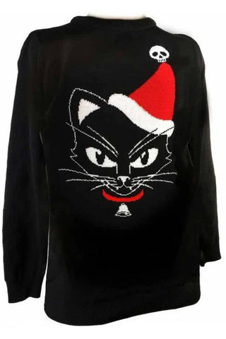 Alchemy Black Cat Christmas Jumper | Angel Clothing
