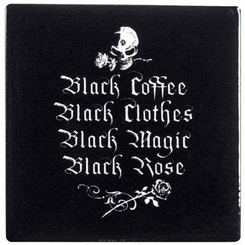 Alchemy Gothic Black Coffee Black Clothes Coaster - Angel Clothing