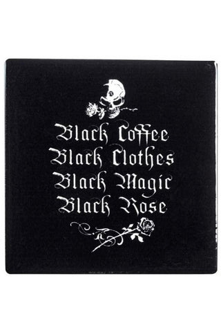 Alchemy Black Coffee Black Clothes Coaster | Angel Clothing