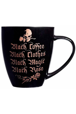 Alchemy Gothic Black Coffee Black Clothes Mug | Angel Clothing