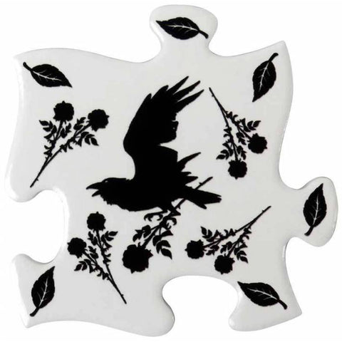 Alchemy Black Raven and Rose Jigsaw Coasters | Angel Clothing