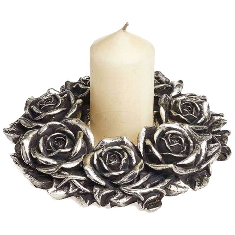Alchemy Gothic Black Rose Wreath Wall Plaque V65 | Angel Clothing