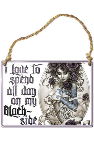 Alchemy Black Side Steel Hanging Plaque | Angel Clothing