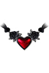 Alchemy Gothic Bloodheart Rose Choker | Angel Clothing