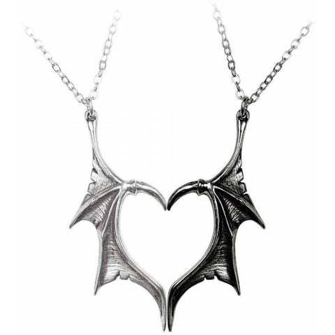 Alchemy Gothic Darkling Heart Friendship Pendants P851 | Angel Clothing