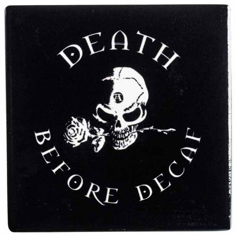 Alchemy Gothic Death Before Decaf Coaster - Angel Clothing