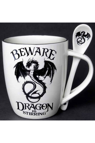 Alchemy Dragon is Stirring Mug and Spoon Set | Angel Clothing