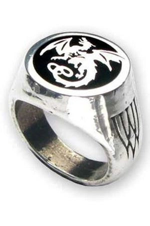 Alchemy Dragon Wyverex Signet Ring R154 | Angel Clothing