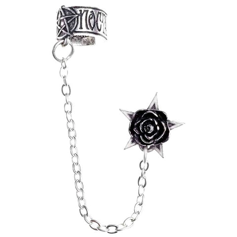 Alchemy Gothic Earring Rosa Nocta Earcuff E382 - Angel Clothing