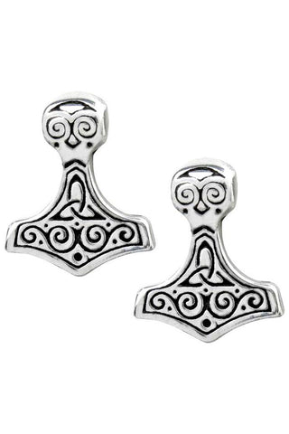 Alchemy Gothic Earring Thors Hammer Earstuds E384 | Angel Clothing
