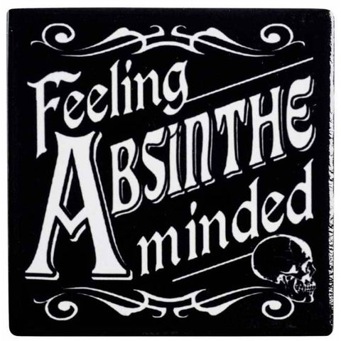 Alchemy Gothic Feeling Absinthe Minded Coaster - Angel Clothing