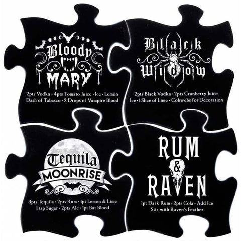 Alchemy Gothic Gothic Cocktail Jigsaw Coasters - Angel Clothing