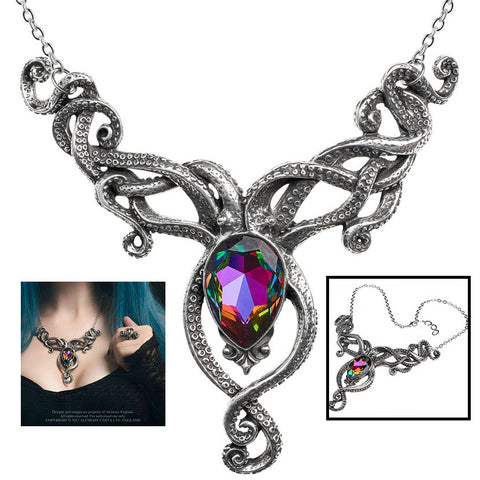 Alchemy Gothic Kraken Necklace P818 | Angel Clothing