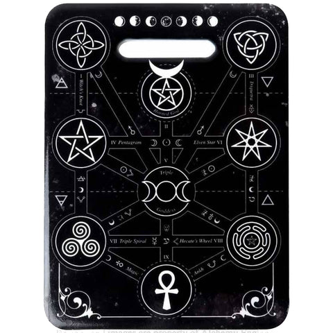 Alchemy Gothic Magic Symbols Chopping Board - Angel Clothing