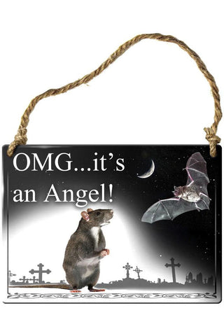Alchemy OMG Its an Angel Rat and Bat Plaque | Angel Clothing
