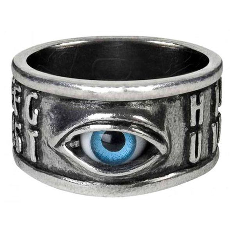 Alchemy Gothic Ouija Eye Ring R215 | Angel Clothing