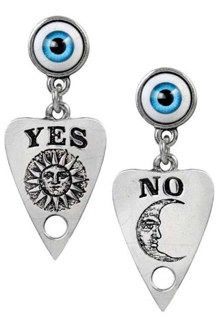 Alchemy Ouija Planchette Studs Earrings E396 | Angel Clothing
