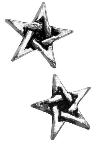 Alchemy Pentagram Stud Earrings E164 | Angel Clothing