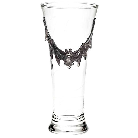 Alchemy Gothic Pewter Villa Diodati Bat Continental Beer Glass | Angel Clothing