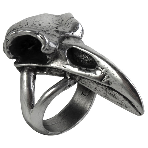 Alchemy Rabeschadel Raven Skull Ring R201 | Angel Clothing